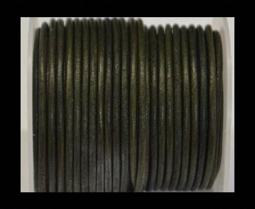 Round Leather Cord -Vintage Tourmaline- 3mm