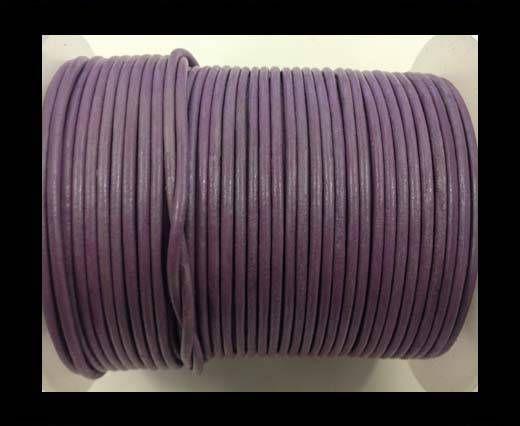 Round leather cord-2mm-Metallic Pastel Purple