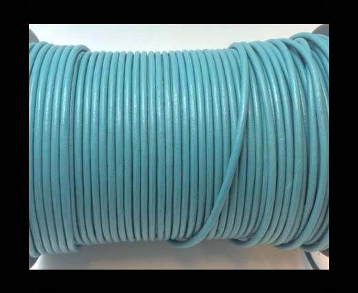 Round Leather cords  2,5mm -Light Blue