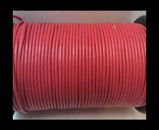 Round Leather cords  2,5mm -Light Red