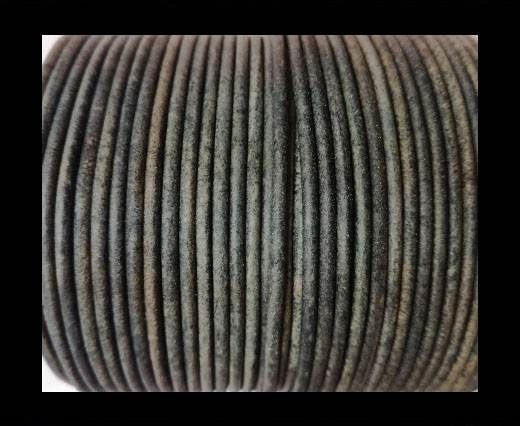 Round Leather Cord-1,5mm-vintage grey