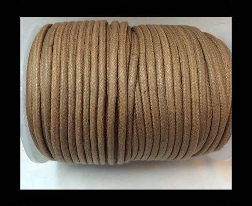 Round Wax Cotton Cords - 2mm - Mustard