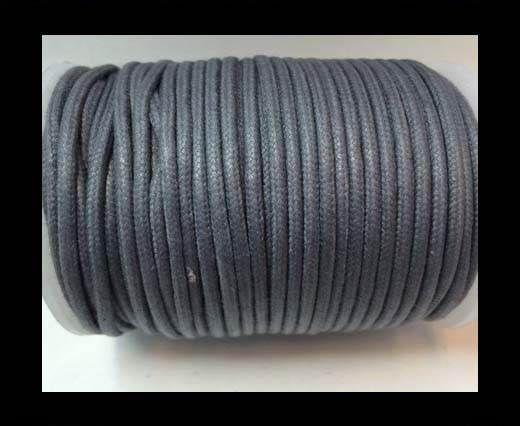 Round Wax Cotton Cords - 2mm - Steel Grey