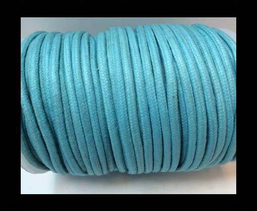 Round Wax Cotton Cords - 3mm  - Turquoise