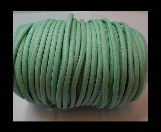 Round Wax Cotton Cords - 3mm - Aquamarine