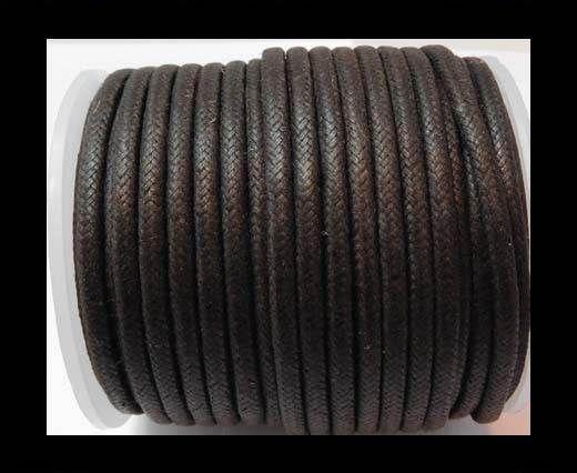 Round Wax Cotton Cords - 3mm - Dark Brown