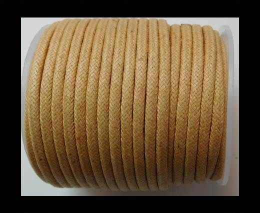 Round Wax Cotton Cords - 3mm - Natural