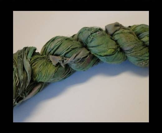 Sari Silk Ribbons-Lemon Grass