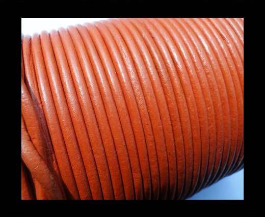 Round Leather Cord SE/R/20-Orange - 1,5mm