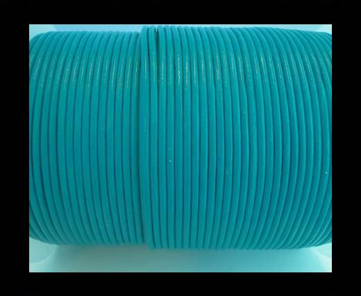 Round Leather Cord SE/R/23-Sea Blue-1,5mm