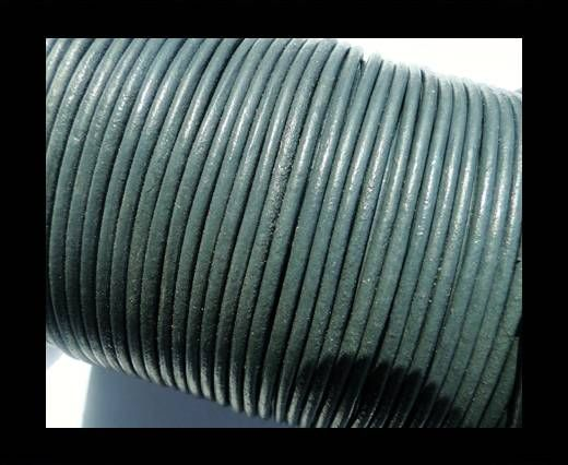 Round Leather Cord SE/R/Medium Grey - 2mm
