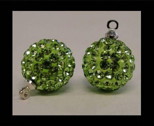 Shamballa-Kristall-Aufhänger-12mm-Peridot