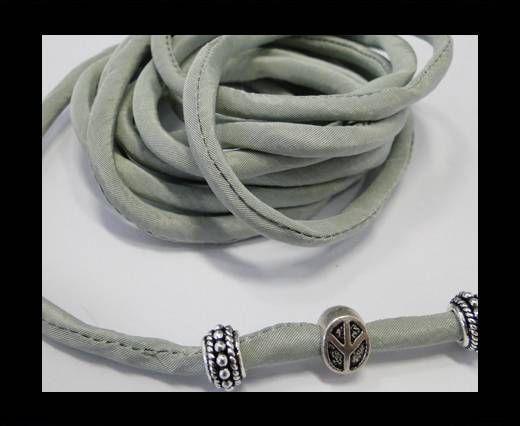 Seidenband mit Baumwollfüllung - 4 mm - Flaschengrün