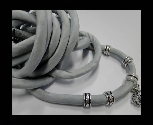Seidenband mit Baumwollfüllung - 8 mm - Aqua