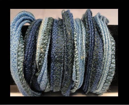 Seiden-Baumwolle-6-Himmelblau und Hellblau
