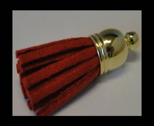Tussels-Suede-Gold Caps-Red-30mm