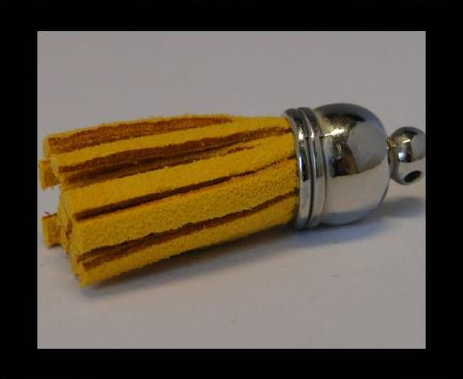 Tussels-Suede-Silver Caps-Yellow-30mm