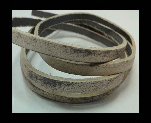 Vintage Style Flat Leather - 5mm-Taupe Tiger