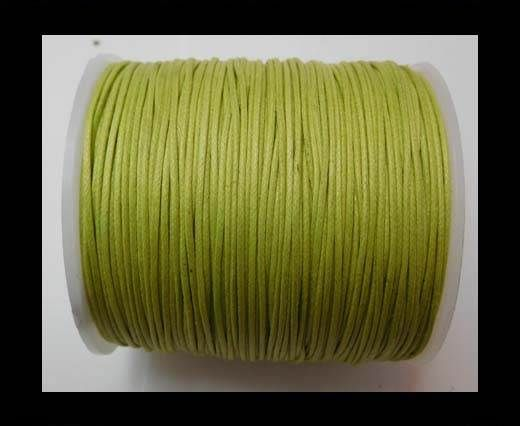 Wax Cotton Cords - 1mm - Apple Green