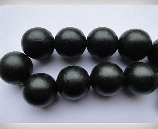 Wooden Beads-25mm-Black