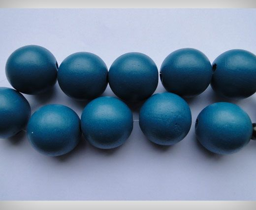 Wooden Beads-30mm-Dark Turquoise