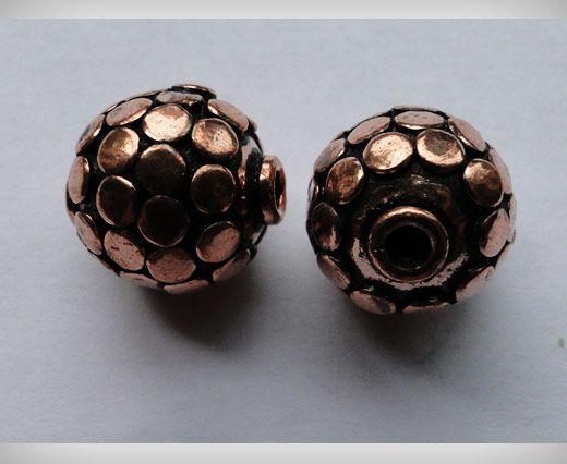 Perle e pendenti di grossa taglia in rame anticato