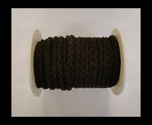 Braided Suede Cords -Coffee-5mm
