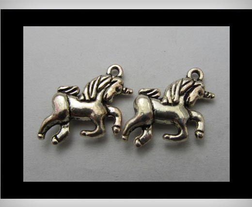 Zamac Silver Plated Beads CA-3216