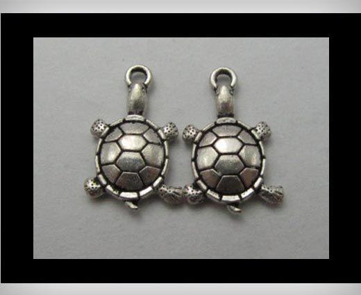 Zamac Silver Plated Beads CA-3235