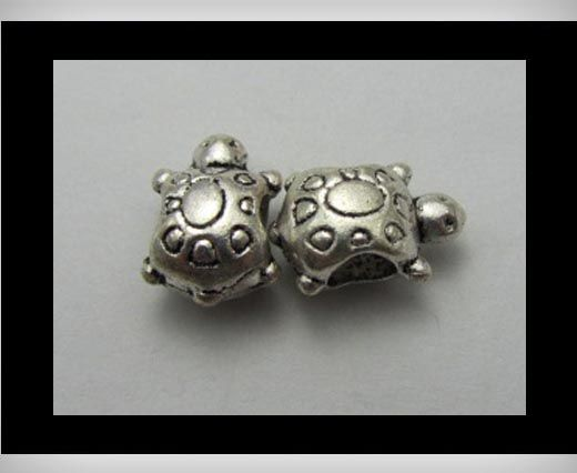 Zamac Silver Plated Beads CA-3252