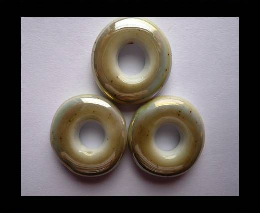 CB-Ceramic Flower-Small Donuts-Beige AB