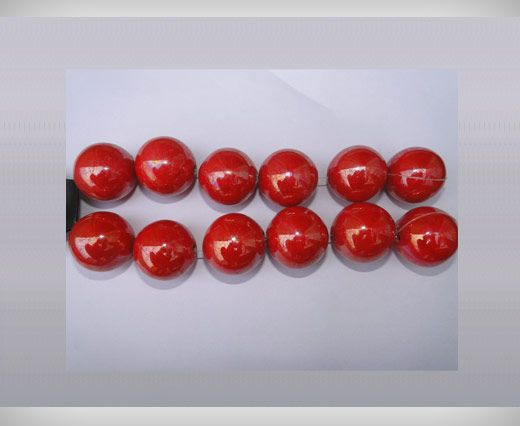 Ceramic Beads-21mm-Red