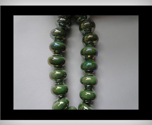Ceramic Beads -Green-AB