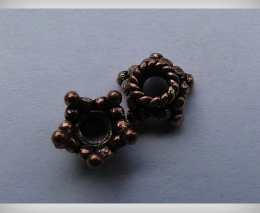Buy Copper Antique Small Sized Beads SE-1745 at wholesale price