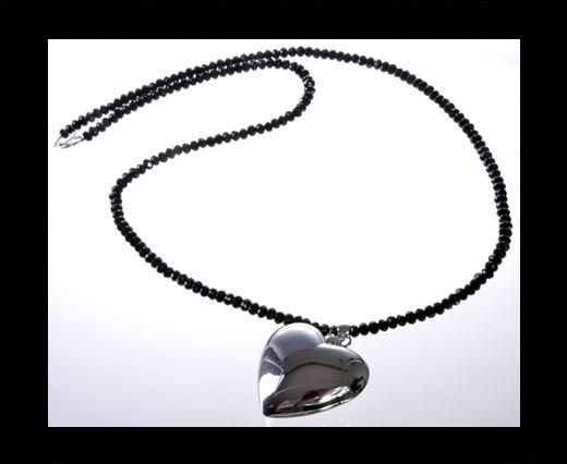 DC-GS-Black-Quartz-Long Necklace