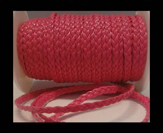 Eco-Flat braided leather-5mm-Fuchsia