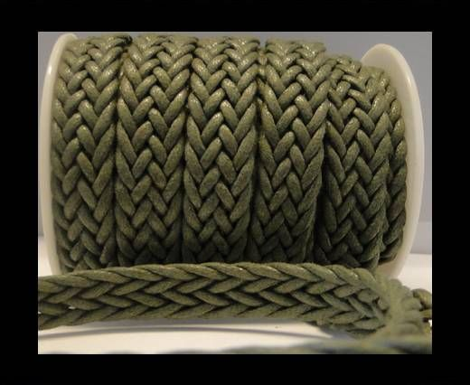 Eco-Flat Braided Cords-Special Style-16mm-Army Green