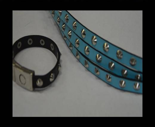 Eco Leather with Metal 10mm-Blue
