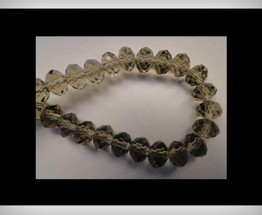 Faceted Glass Beads-6mm-Smokey-Quartz