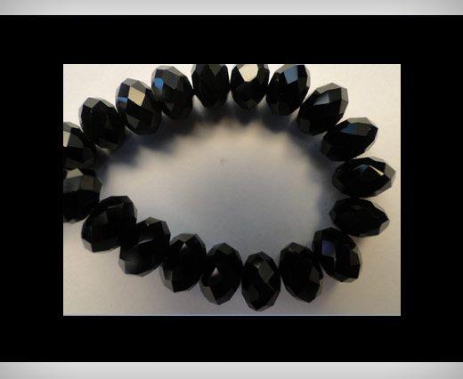 Faceted Glass Beads-12mm-Black Quartz