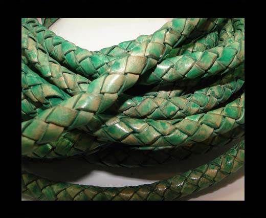 Fine Braided Nappa Leather Cords-8mm-DI PB 01 light green closer