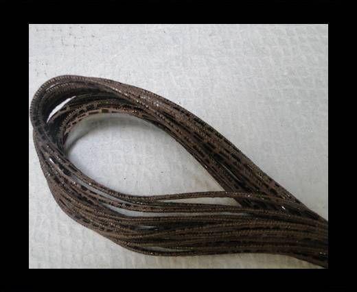 Fine Nappa Leather Round 2,5mm - Stitch Lizzard Brown