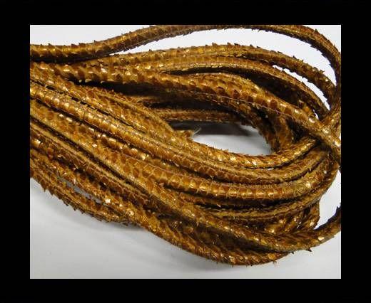 Fine Nappa-Snake-style-Signal Orange-6mm