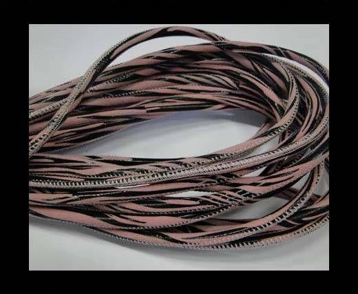 Fine Nappa-Zebra-Style -Rose-4mm