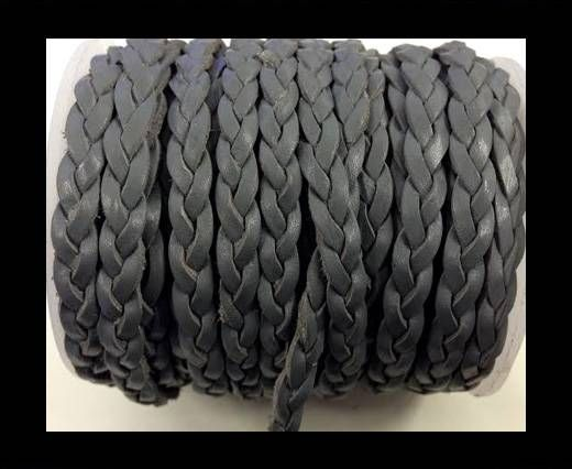 Choti-Flat 3-ply Braided Leather Metallic-SE-Vintage Dark Grey-5