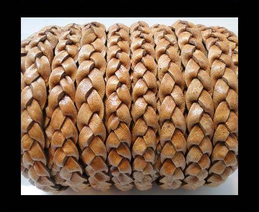 Flat 3-ply Braided Leather-SE-PB-04-10MM