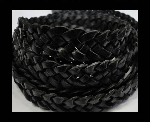 Flat braided cords 14 mm - SE/PB/Black - 5 ply