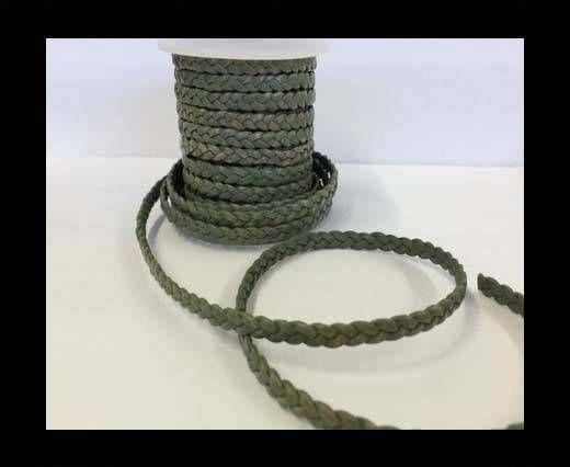 Choti-Flat braided leather 3 ply 5mm - SE-FPB-15