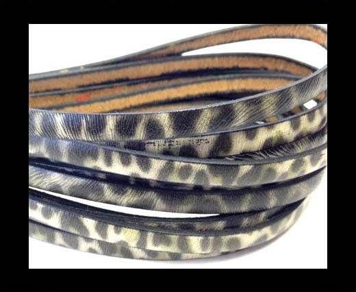 Flat Italian Leather-5mm- Verde