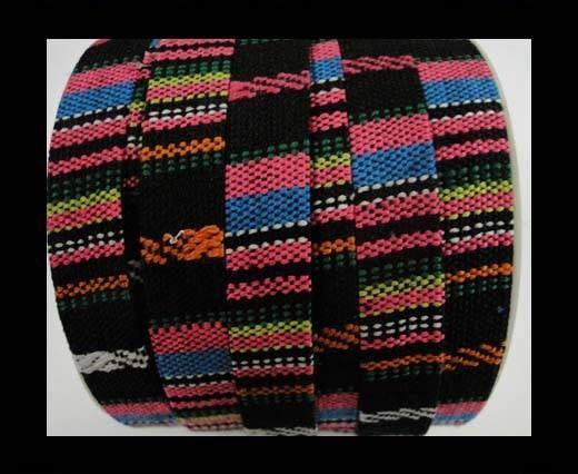 Flat multicolor Fabric cord-10mm-color3